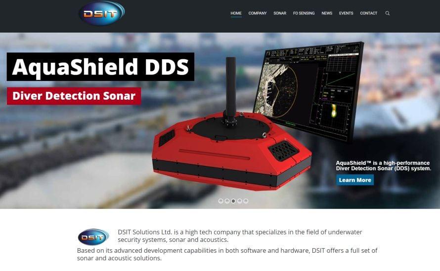 Sonarsystemet Aquashield fra det israelske selskapet DSIT kan varsle om trusler under vann. (Skjermdump fra dsit.co.il).
