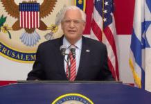 USAs ambassadør i Israel David Friedman. (Skjermdump fra Youtube)