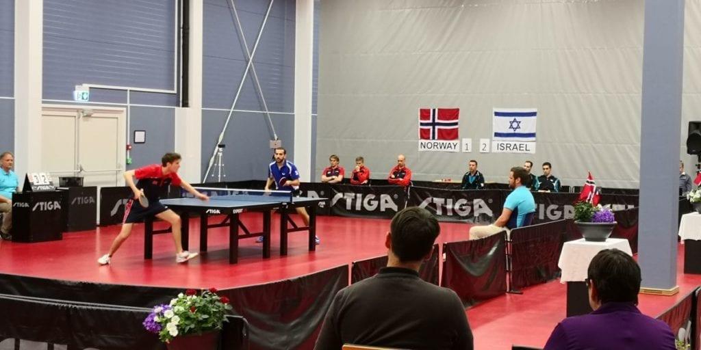 Eskil Lindholm til venstre og Michael Tauber til høyre. (Foto: Yossi Salpeter)