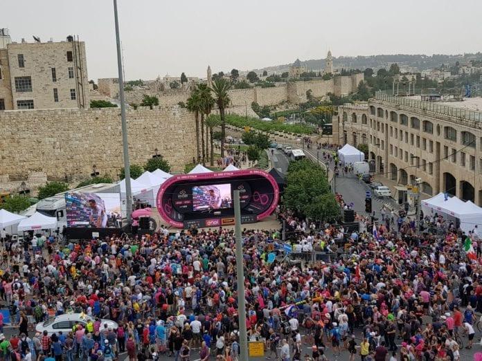 Første etappe av Giro d´Italia var i Jerusalem 4. mai. TV-bildene fra rittet var stor markedsføring av den israelske hovedstaden.