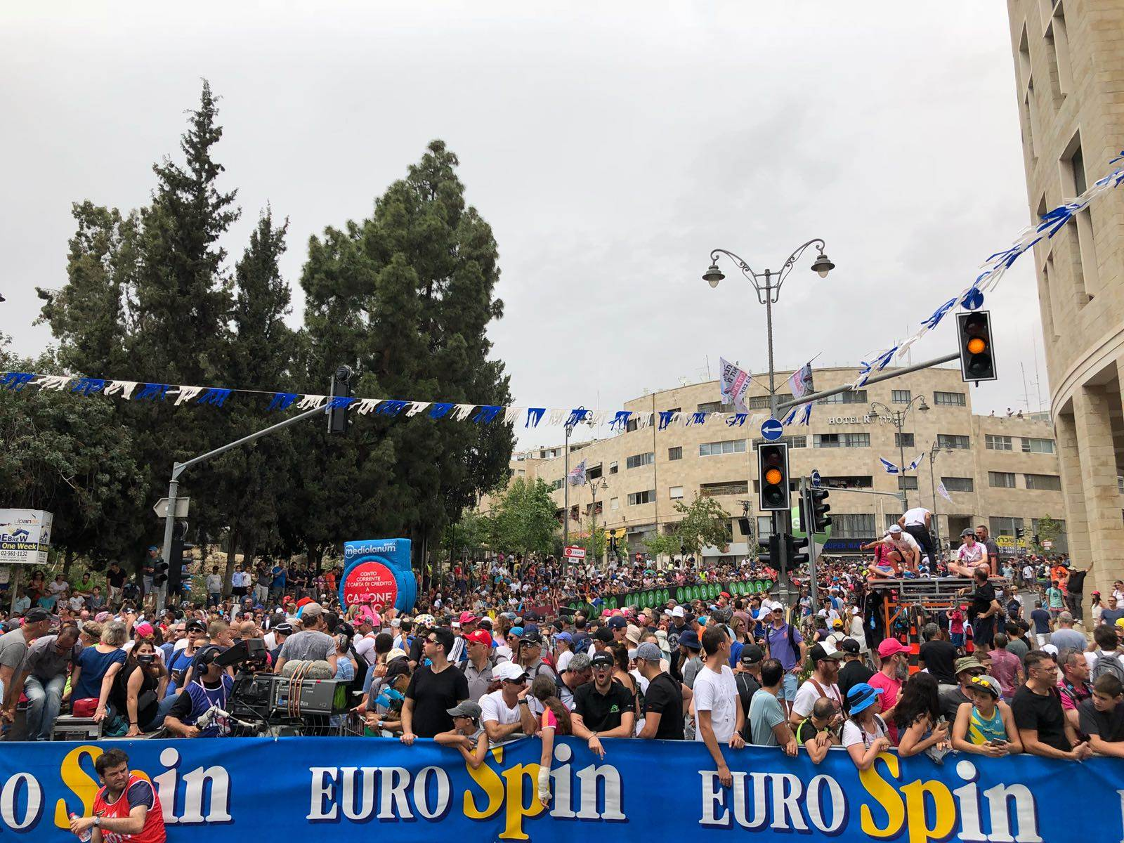 Over 10.000 tilskuere fulgte løpet som gikk gjennom Jerusalems gater.