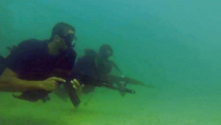 Hamas-terrorister. (Skjermbilde fra propagandavideo)