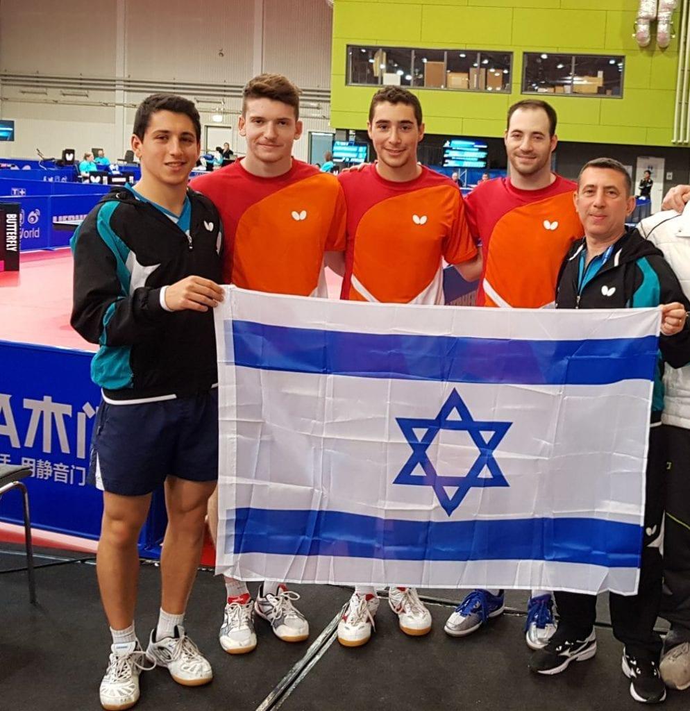 Det israelske laget under VM for lag i Halmstad, Sverige. (Foto: Geir Knutsen)