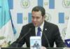 Guatemalas president Jimmy Morales åpnet landets ambassade i Jerusalem. (Foto: Skjermdump)