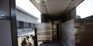 Hamas sendte to lastebiler med nødhjelp tilbake, da de så at de kom fra Israel. (Foto: IDF Spokeperson)