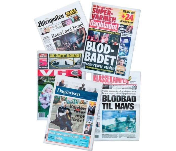 Norske avisers forsider 1. juni 2010.