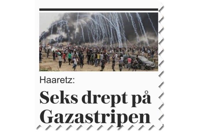 Skjermdump fra forsiden av vg.no søndag 6. mai 2018.