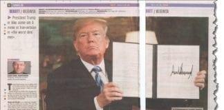 Faksmile fra Dagbladet 26. mai 2018.
