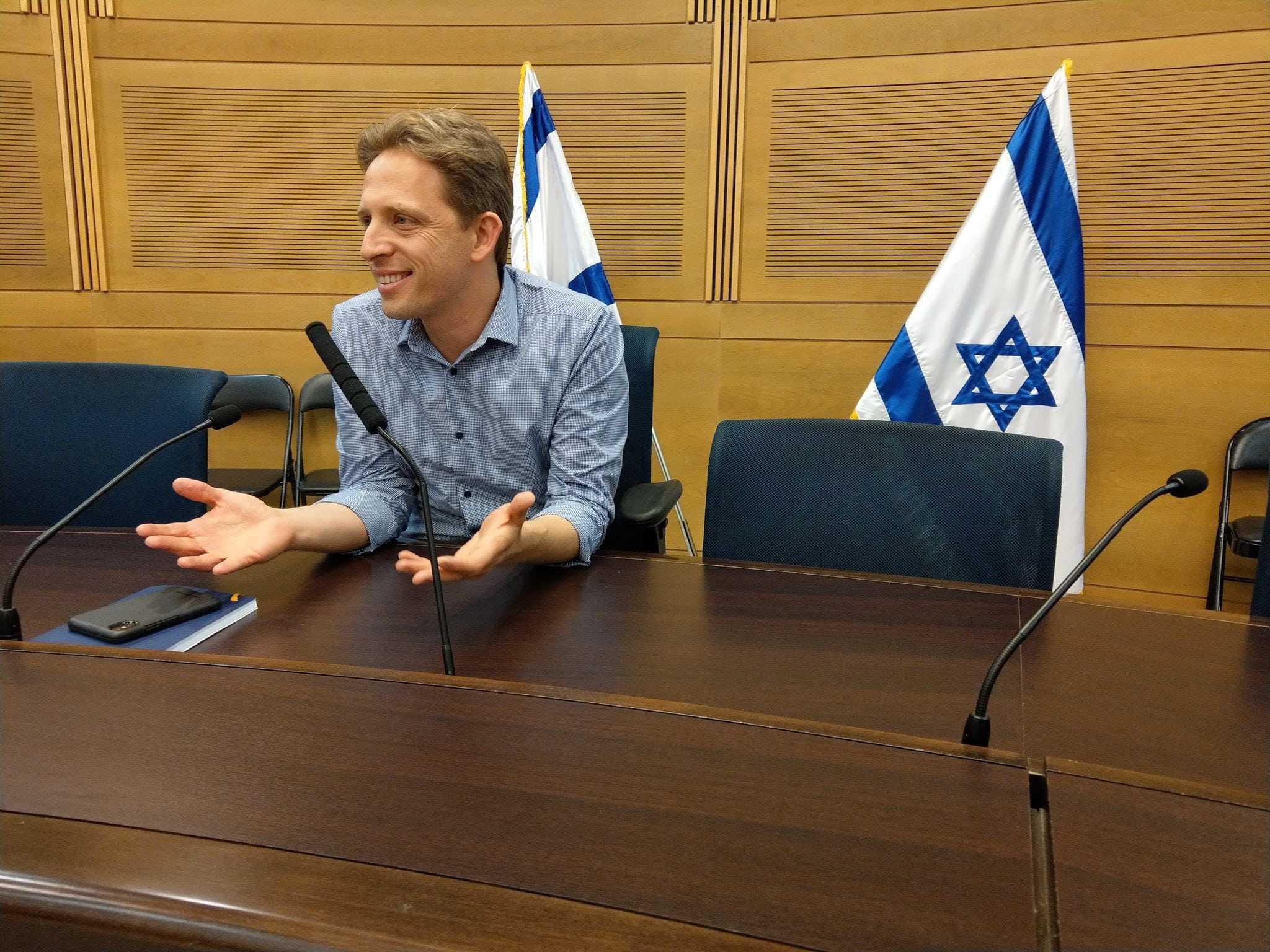 Knesset-medlem Roy Folkman, parlamentarisk leder for regjeringspartiet Kulanu. (Foto: Kjetil Ravn Hansen)