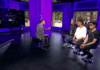 Den norske gruppen A-ha ble intervjuet på israelsk TV før sin aller første konsert i Israel. (Foto: Skjermdump Walla)