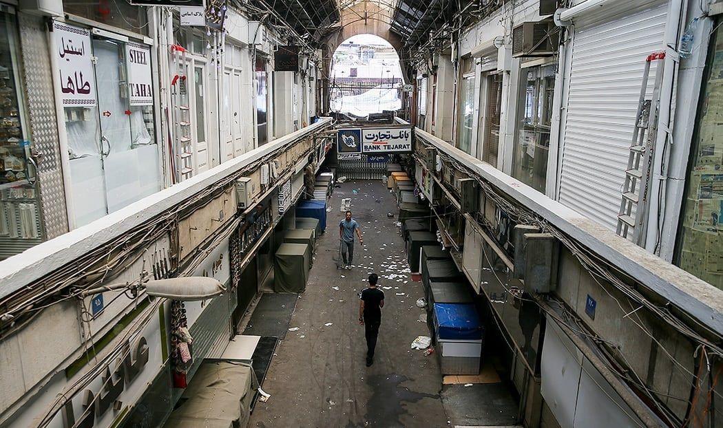 Stengte butikker i Tehran Grand Bazaar i forbindelse med protestene mot den økonomiske situasjonen i landet. (Foto: Omid Vahabzadeh/Wikipedia)