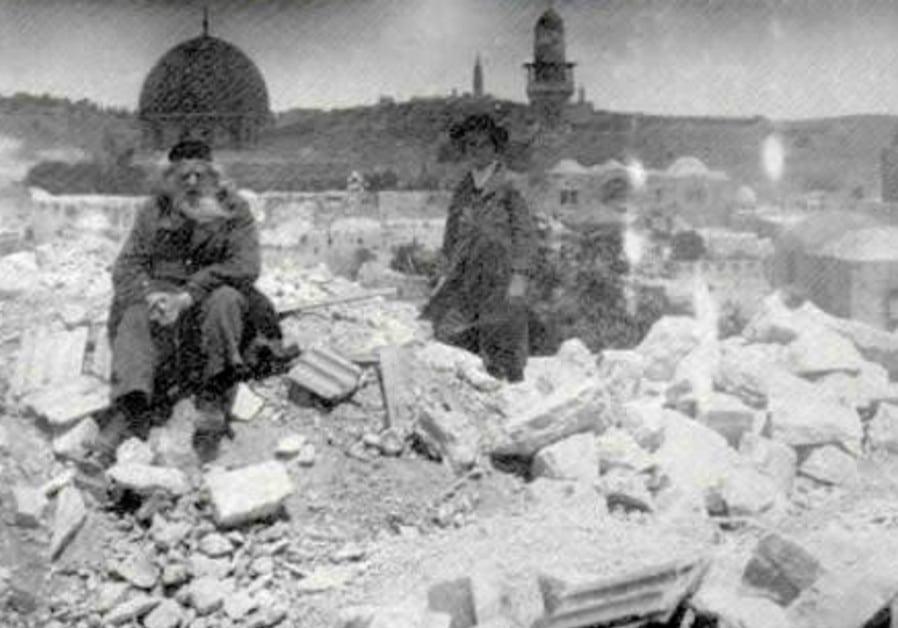 130 mennesker ble drept og flere bygninger ble ødelagt i Jerusalem i skjelvet for 91 år siden. (Foto: Wikipedia)
