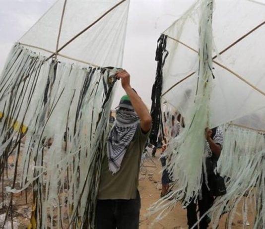 Hamas skal ha gått med på å hindre at palestinere sender slike branndrager fra Gazastripen. (Foto: Facebook)