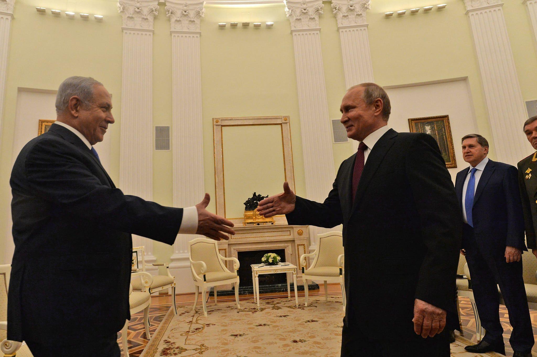 Benjamin Netanyahu og Vladimir Putin møttes onsdag for å diskutere Irans tilstedeværelse i Syria. (Foto: Kobi Gideon/GPO)