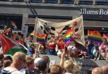 Palestina-aktivister klarte ikke å markere Pride uten å demonisere Israel. (Foto: Linda Kristina Molander, Facebook)