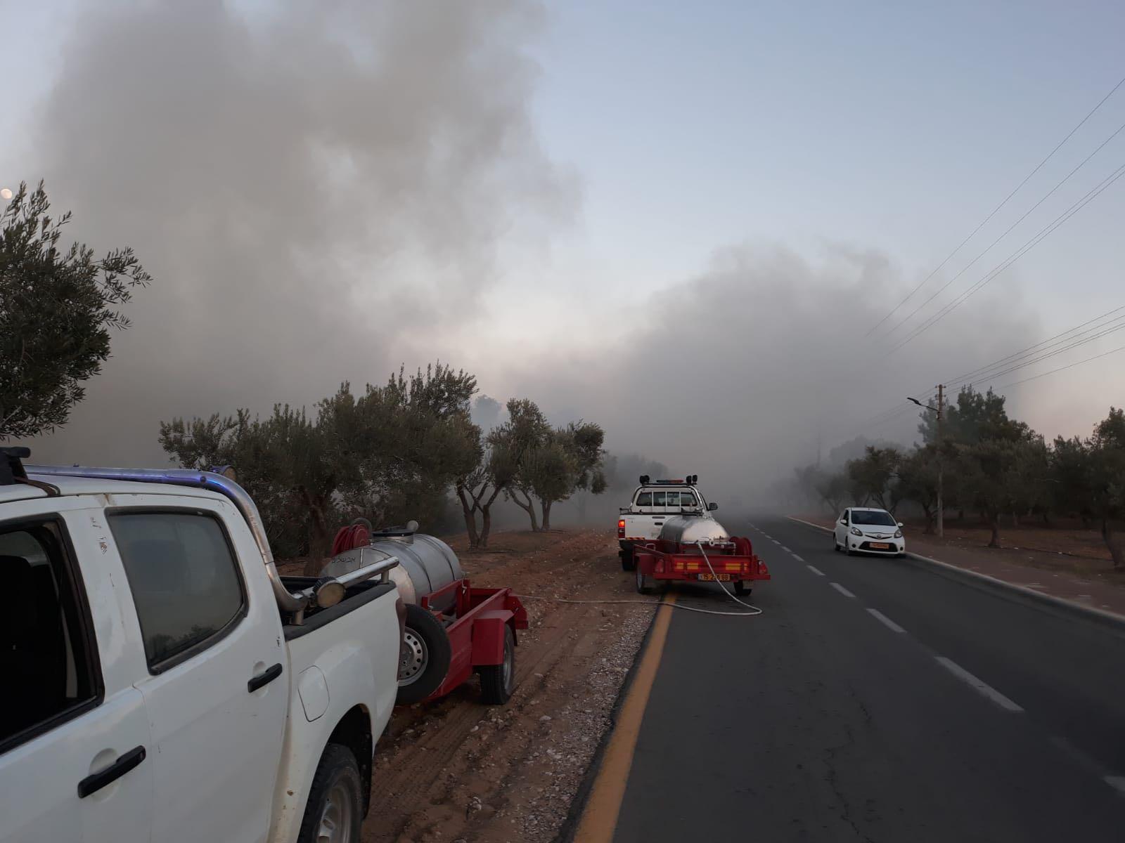 Siden april har brannene herjet i områdene langs Gazastripen. (Foto: Eshkol Security)
