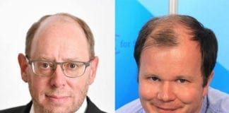 David M. Weinberg og Conrad Myrland. (Foto: MIFF)