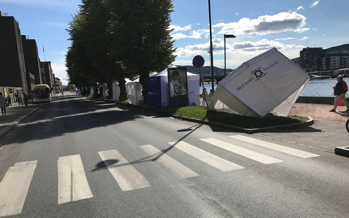 MIFFs lokalforening hadde nylig investert 13.600 kroner i teltet som ble ødelagt. (Foto: Sigurd Eikaas)