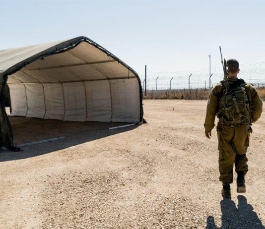 Det israelske feltsykehuset etter at det ble nedlagt. (Foto: IDF)