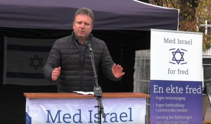 Vebjørn Selbekk talte på MIFF Vestfolds arrangement 7. november 2015. (Skjermdump fra Youtube)