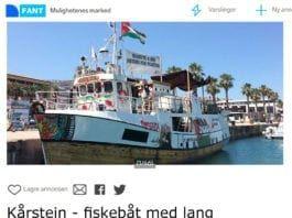 "Kårstein er til salgs via ""Fant""."