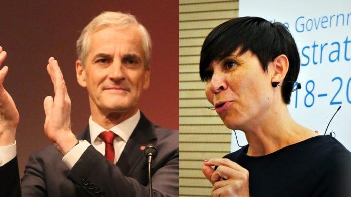 Jonas Gahr Støre og Ine Marie Eriksen Søreide. (Foto: Bent Sønvisen, Arbeiderpartiet, flickr og Norway Mission EU)
