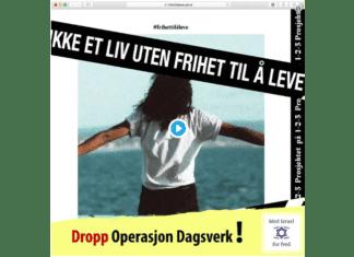 Skjermdump fra filmen Dropp Operasjon Dagsverk! publisert av MIFF 10. september 2018.