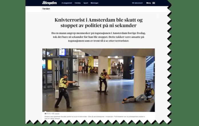 Takket være en israelsk antiterror-metode ble et angrep stanset på få sekunder. (Foto: Faksimile Aftenposten)