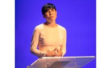 Utenriksminister Ine Marie Eriksen Søreide da hun talte på Oslo Freedom Forum 2018. (Foto: Tore Sætre, flickr)