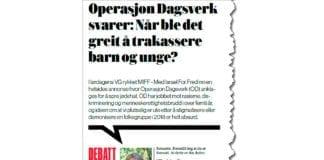 Faksmile av OD-leder Frida Jøraholmen Andresens innlegg i VG 31. oktober 2018.