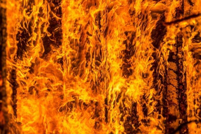 Huset til en svensk jøde ble påsatt. Dette bildet er et illustrasjonsbilde fra Oslo brannvesen.
