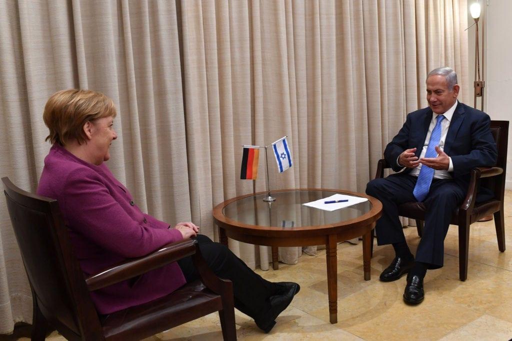 Merkel hadde møter med blant andre statsminister Benjamin Netanyahu. (Foto: Kobi Gideon/Flickr)
