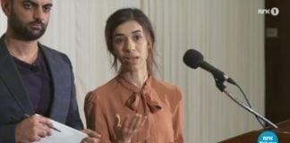 Nadia Murad. (Skjermdump fra NRK Dagsrevyen)
