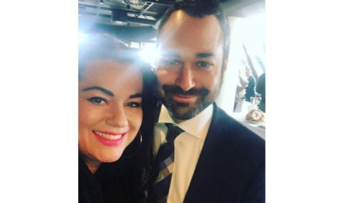 Suzanne Aabel med Dan Poraz fra Israels ambassade i Oslo. (Foto: Instagram)