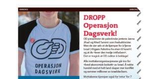 Operasjon Dagsverk melder om 11 prosent nedgang i forhåndspåmeldte skoleelever. Bildet viser toppen av annonsen som MIFF har hatt i Norges største aviser i forkant av OD-dagen.
