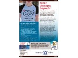 Faksimile av annonsen slik den kom på trykk i Aftenposten og Bergens Tidende.