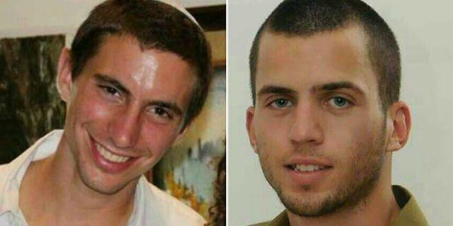Levningene til IDF-soldatene Hadar Goldin (t.v.) og Oron Shaul holdes skjult av Hamas. (Foto: Private)