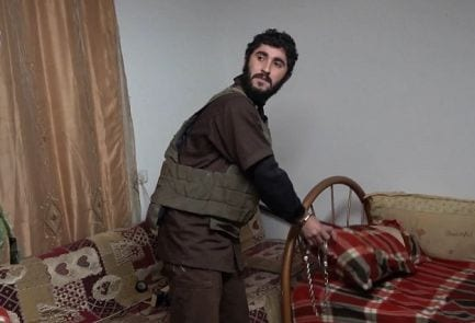 Hamas-terroristen Ayus Rajoub etter at han ble pågrepet av sikkerhetstjenesten. (Foto: Shin Bet)