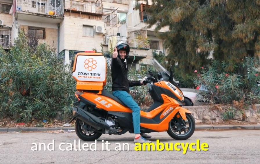 """Dette er en såkalt """"ambusykkel"""". (Foto: United Hatzalah)"""