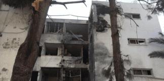 460 raketter ble skutt mot Israel i løpet av 25 timer. Flere boliger og leilighetsbygg ble truffet. (Foto: Skjermdump YouTube)