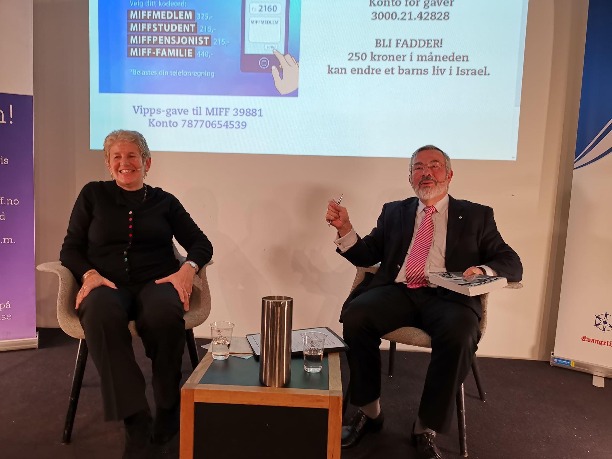 Lyn Julius og Jan Benjamin Rødner. (Foto: Kjetil Ravn Hansen, MIFF)