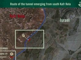 Tirsdag 4. desember 2018 melder det israelske forsvaret at de har ødelagt en angrepstunnel fra Libanon. Den gikk nesten 40 meter inn på israelsk side, ifølge IDF. (Foto: IDF)