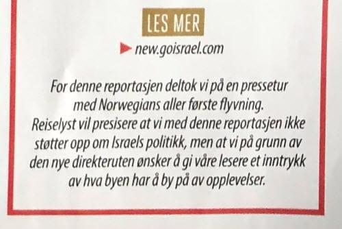 Faksmile fra side 40 i Magasinet Reiselyst desember 2018.