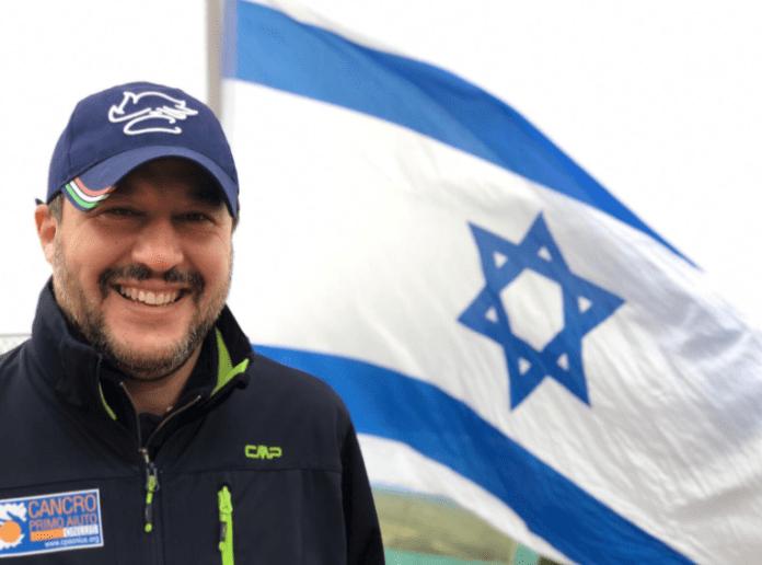 Den regjerende italienske visestatsministeren Matteo Salvini mener EU er ubalansert i sin kritikk av Israel. (Foto: Twitter)