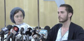 Shira og Amichai Ish-Ran mistet babyen sin etter terrorangrepet søndag 9. desember. (Foto: Skjermdump YouTube)