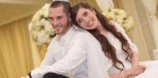 Ekteparet Amichai (t.v.) og Shira Ish-Ran ble skutt i søndagens angrep. Dette bildet er fra bryllupet. (Foto: Privat)