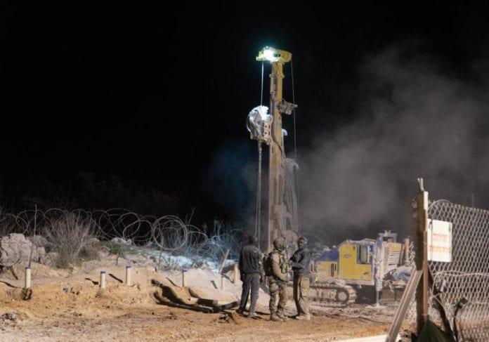 Onsdag 26. desember ble den femte terrortunnelen gravd fra Libanon og inn på israelsk territorium ødelagt. (Foto: IDF)