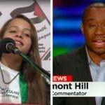 Janna Jihad og Marc Lamont Hill. (Foto: YouTube/ CNN)