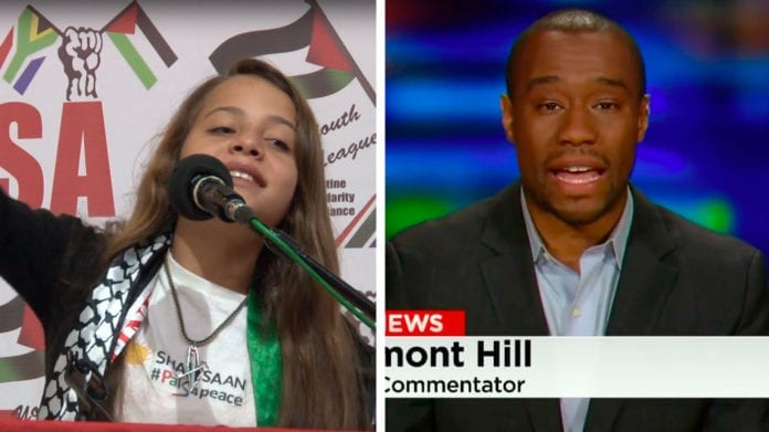 Janna Jihad og Marc Lamont Hill. (Foto: YouTube/ CNN)