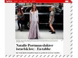 Skjermdump fra VG.no 14. desember 2018.